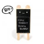 韓國可愛小熊直立式木質迷你小黑板/留言板/手寫板/告示牌