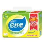 倍舒柔 超質感抽取式衛生紙150抽x84包/箱