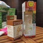 【體驗】小獅王辛巴超輕鑽標準葫蘆玻璃大奶瓶、拋棄式雙層奶粉袋